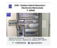 Electricista Matriculado Ezeiza -  1168349448 -